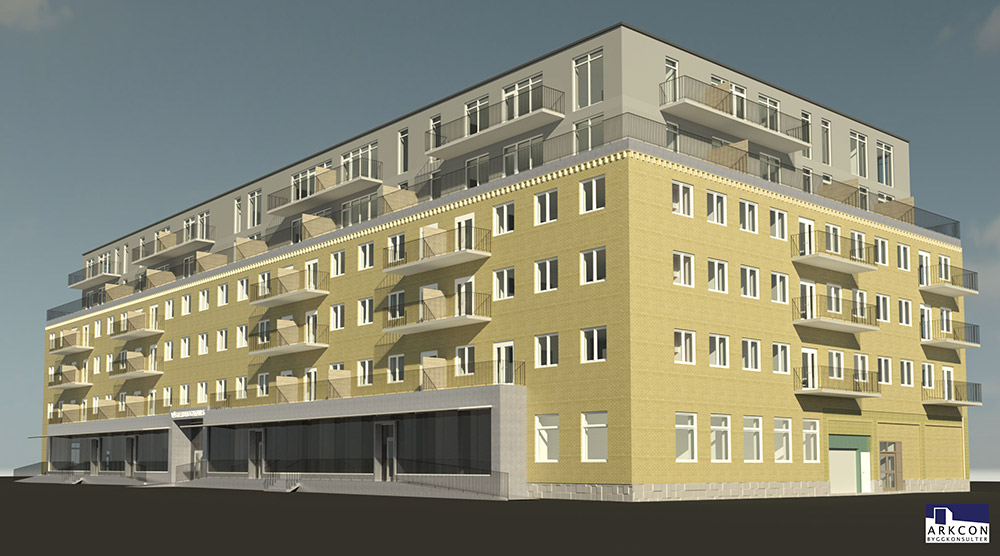 Eko-10 - Västerbrogatan / Hallbergsgatan, Borås