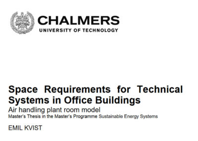 Space Requirements for Technical Systems in Office Buildings